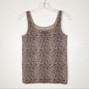 Soma Seamless Fabulous Cami Tank Zebra Tan Size M
